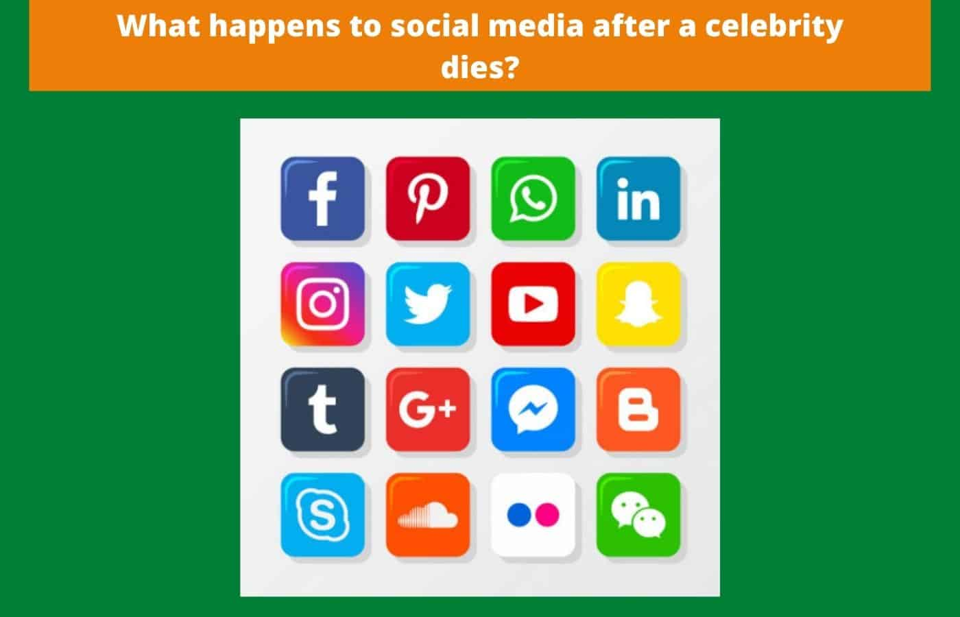 What happens to social media after a celebrity dies
